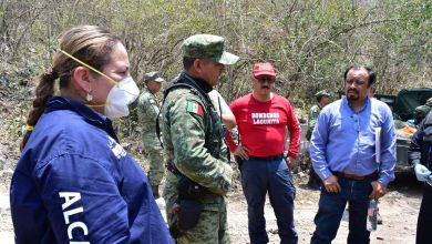 Photo of Combaten incendio en Landa de Matamoros