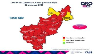 Photo of Querétaro con 680 casos de enfermedad COVID-19; y 77 defunciones