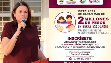 Photo of Ezequiel Montes dará 2 millones de pesos en becas para estudiantes
