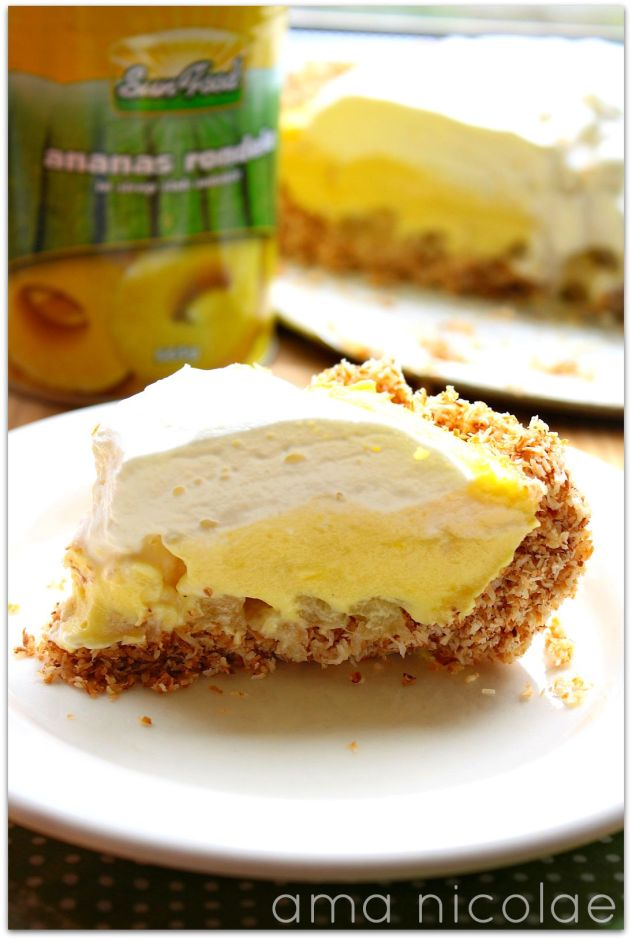 tarta ananas si cocos fara coacere sun food