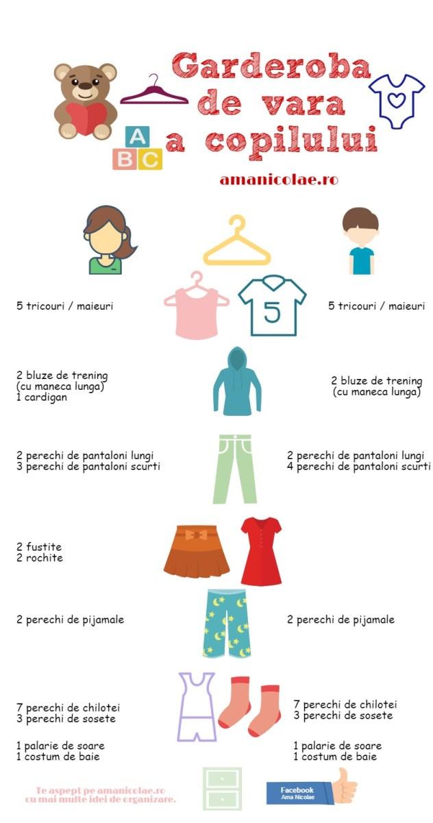 garderoba de vara a copilului