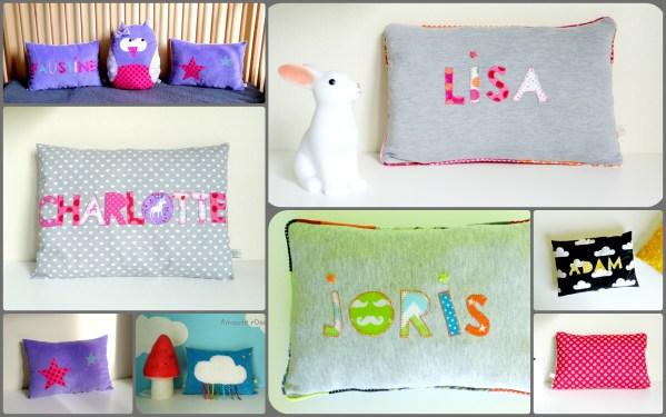 Coussin personnalisé pour enfant bébé décoration chambre