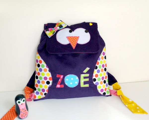 sac-dos-fille-hibou-personnalise-prenom-zoe-violet-arc-en-ciel-sac-bebe-creche-nounou-sac-a-langer-original-cadeau-naissance-liste naissance-sur-mesure