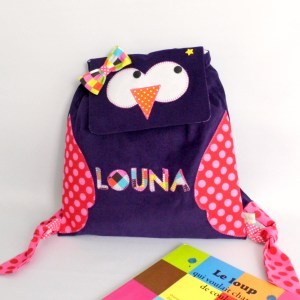 sac-a-dos-hibou-maternelle-prenom-louna-sac-creche-fille-amanite-rose-kindergarten-backpack-personalized-name-owl