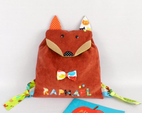 sac-a-dos-garcon-renard-personnalise-prenom-raphael-sac-a-langer-ecole-maternelle-creche-fox-bag-children-school-with-name