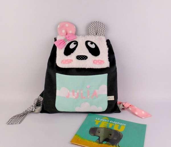 sac-maternelle-fille-panda-personnalise-prenom-juila-rose-poudre-vert-menthe-gris-cadeau-personnalise-enfant-anniversaire-noel