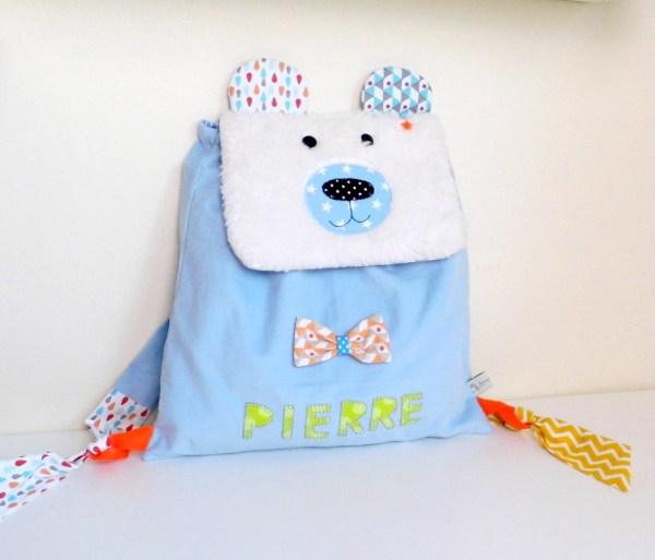 Sac à dos maternelle ours polaire Pierre