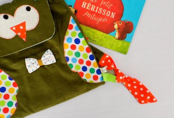 sac-a-dos-maternelle-hibou-garcon-personnalisable-prenom-cartable-enfant-ecole-chouette-vert-kaki-preschool-backpack-toddler-personalized-name