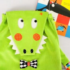 sac-a-dos-crocodile-enfant-ecole-maternelle-vert-noir-sac-garcon-crèche-bebe-cadeau-anniversaire-2-ans-crcodile-backpack-toddler-kids-preschool