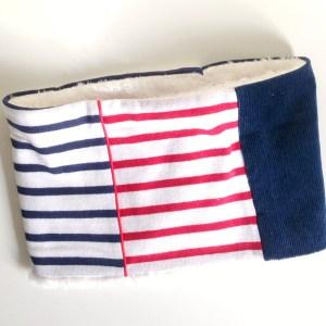 echarpe-tube-enfant-tour-cou-raye-marin-bleu-navy-rouge-garcon