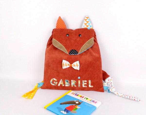sac-gabriel-personnalise-prenom-renard-cartable-maternelle-personnalisable-fox-school-backpack-name