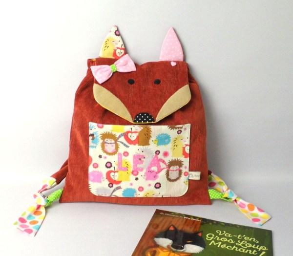 sac-a-dos-renard-fille-personnalise-prenom-lea-sac-enfant-ecole-maternelle-sac-a-dos-bebe-brode-creche-nounou-preschool-kindergarten-backpack-fox-personalized-name