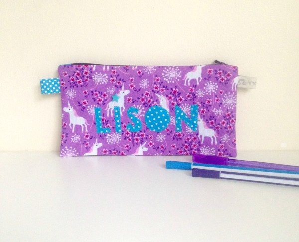 trousse-fille-ecole-CP-brode-prenom-lison-licorne-violet-bleu-turquoise-trousse-ecolier-enfant-crayon-personalized-name-pencil-case-unicorn-purple-pink-school-kids