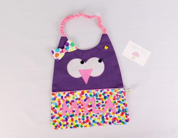 bavoir-personnalise-hibou-fille-violet-rose-idee-cadeau-noel-bebe-amanite-rose