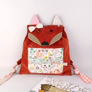 sac-a-dos-bebe-renard-personnalise-prenom-roxane-sac-maternelle-fille-rose-poudre-pastel-vert-menthe-fox-backpack-personnalized-with-name-pink-green-mint