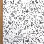 tissu-a-colorier-licornes