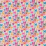 blanc-imprime-papillons-mutlicolores