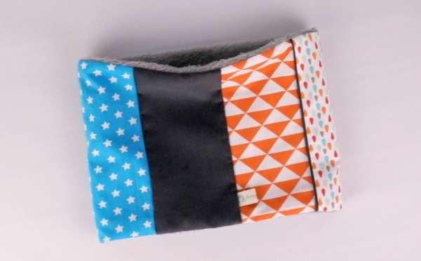 echarpe-tube-bebe-enfant-personnalisable-tissu-couleurs-cache-cou-snood-bleu-orange