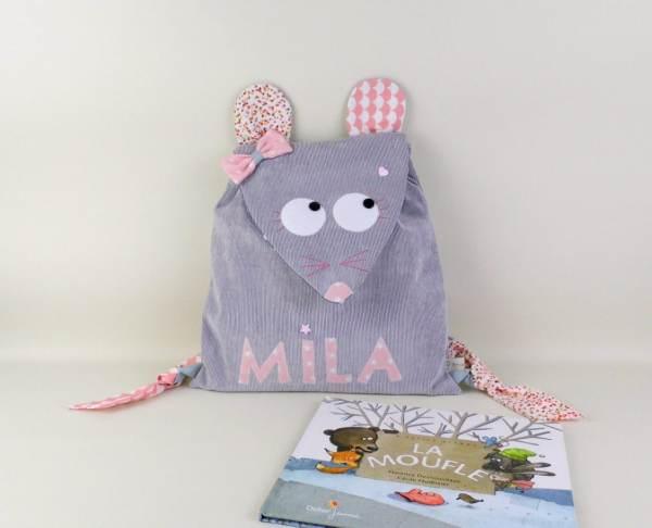 sac-a-dos-fille-souris-personnalise-prenom-mila-cartable-maternelle-gris-rose-poudre-corail