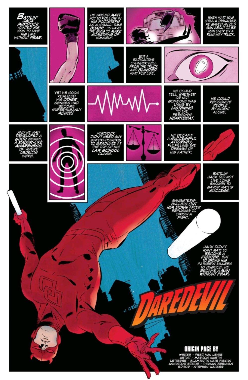 Daredevil origin page