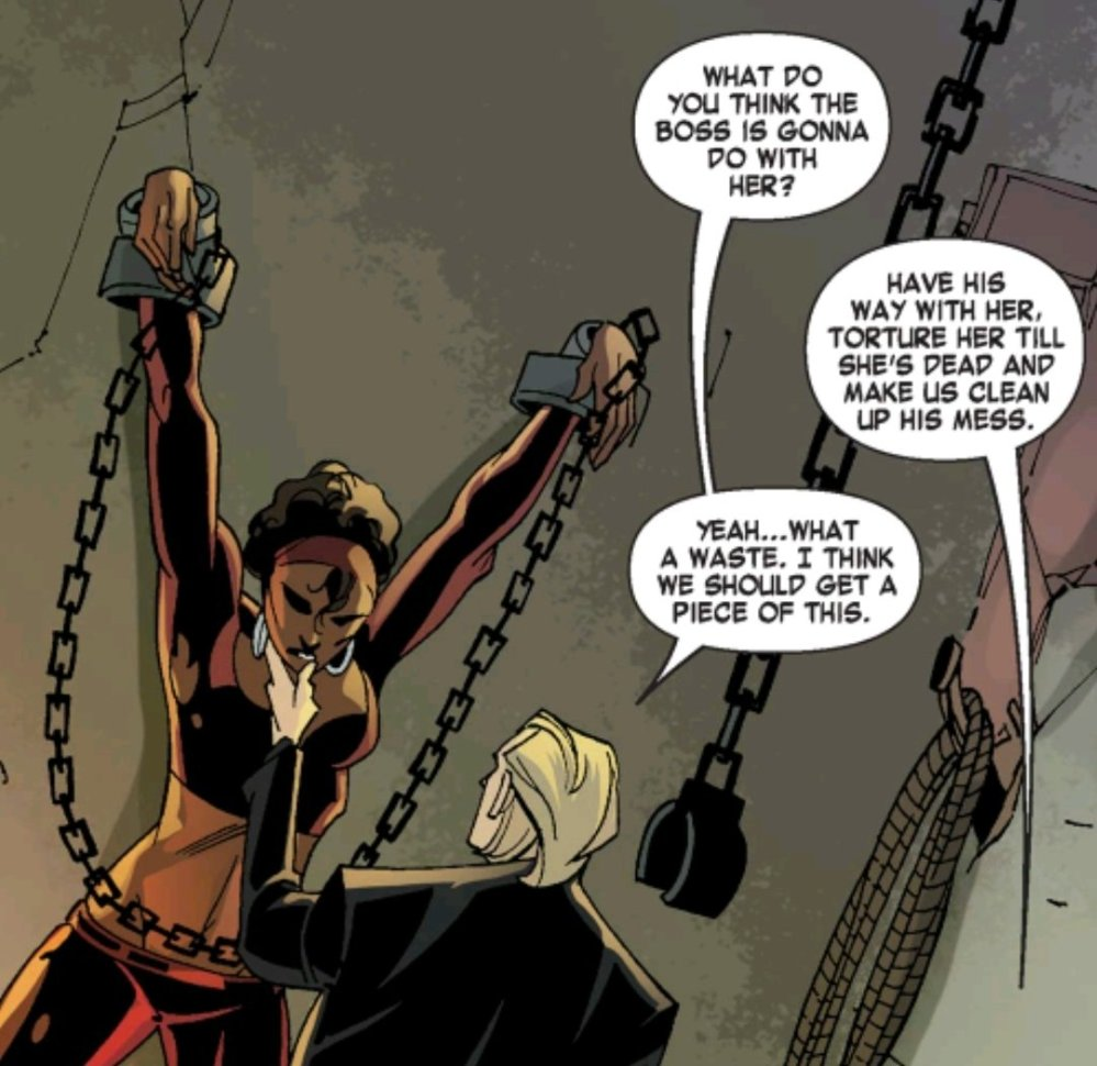 Misty Knight chained up about to be raped
