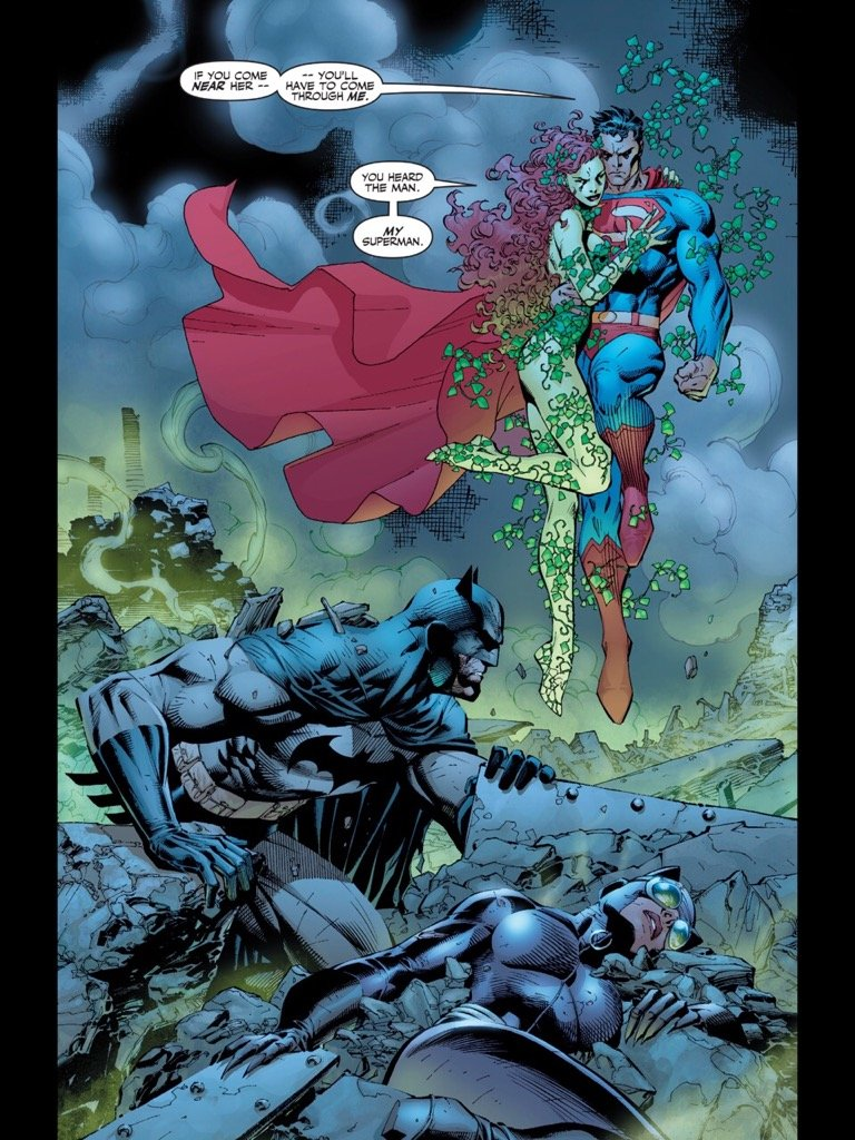 Superman under the control of Poison Ivy
