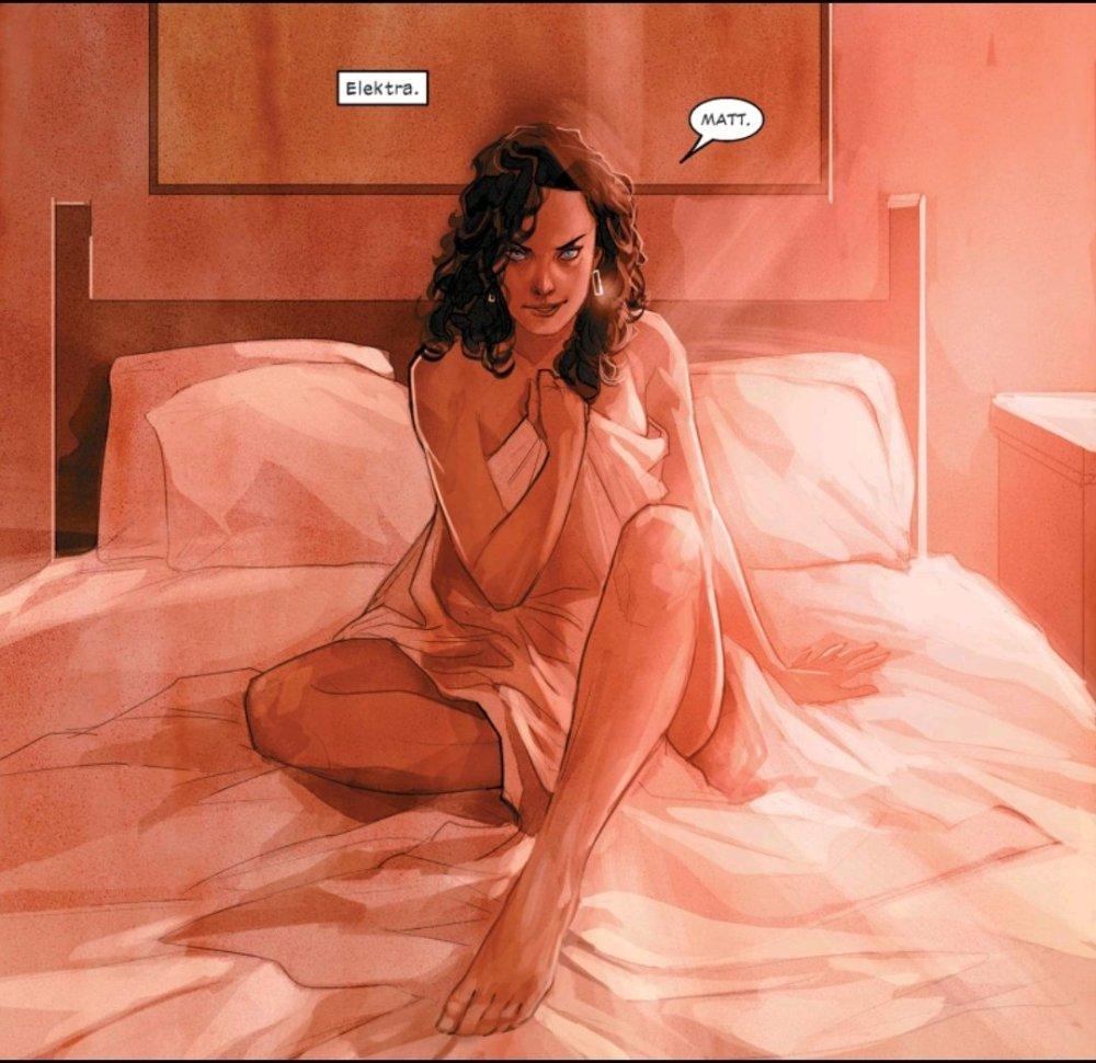 Elektra naked in bed