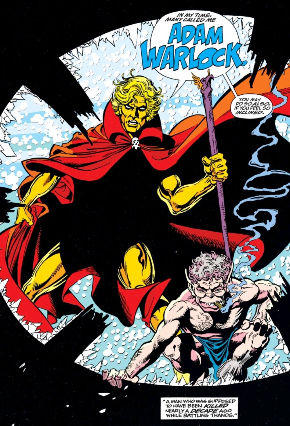 Adam Warlock, jerk face