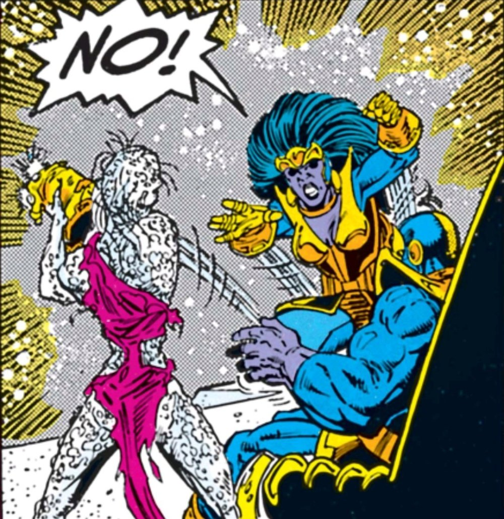 Nebula taking the gauntlet