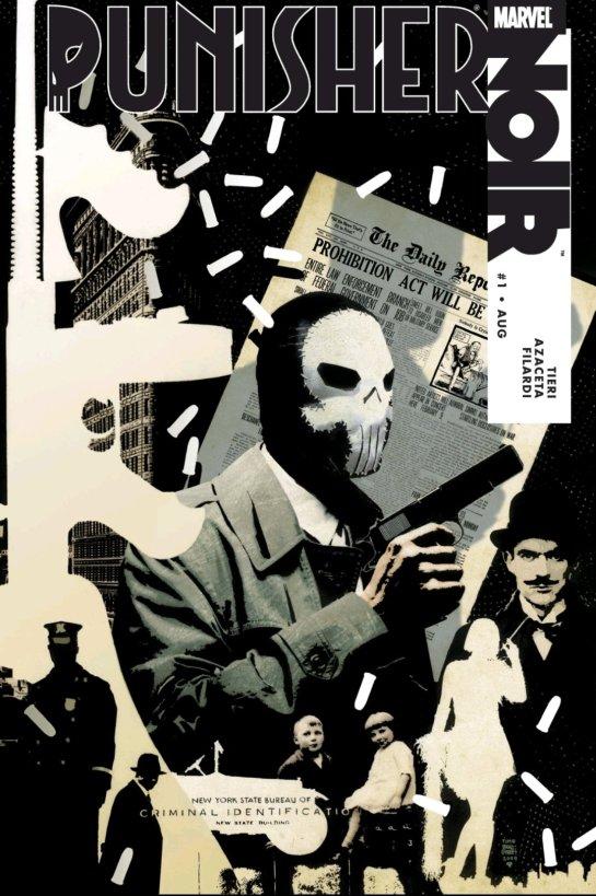 punisher noir marvel comics cover
