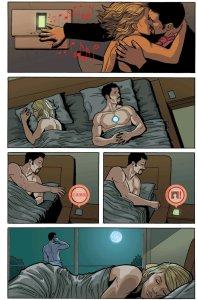 jerk Tony Stark ignoring Pepper Potts to sleep with a stranger