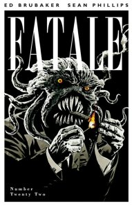 Fatale issue cover featuring smoking tentacle monster man