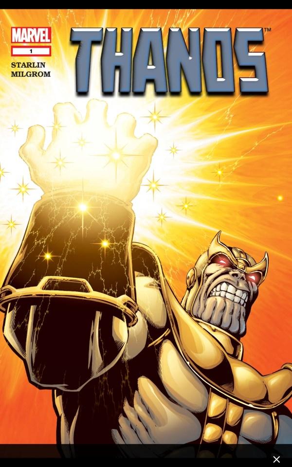 thanos marvel comics cover