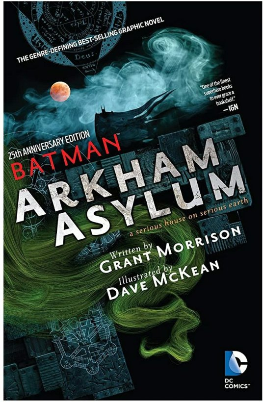 batman arkham asylum dc comics cover
