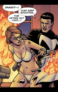 half naked angry lesbian detective in punisher