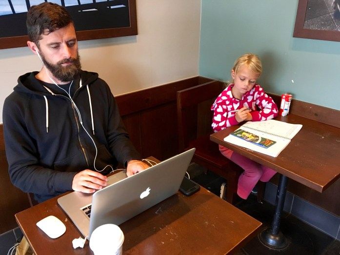 "It was ""take your entire family to the coffee shop where you work"" day."