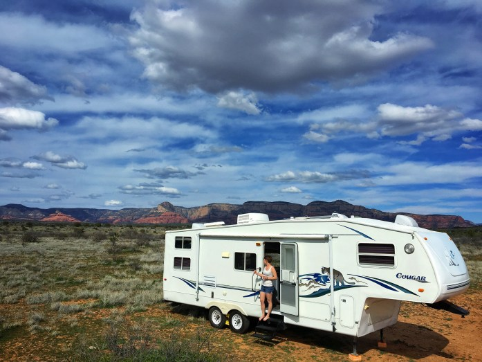 One of our favorite boondocking sites in Sedona, Arizona, March 2019.