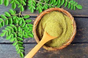 feuilles et poudre moringa amansibio