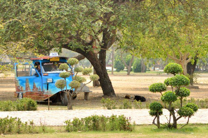 Un tuk-tuk à Ayuttahya