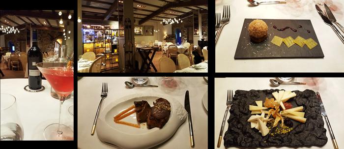 La Ferreria dès de 1987. Nous avons dîné : sphère de foie gras, pavé de kangourou, assiette de fromage.