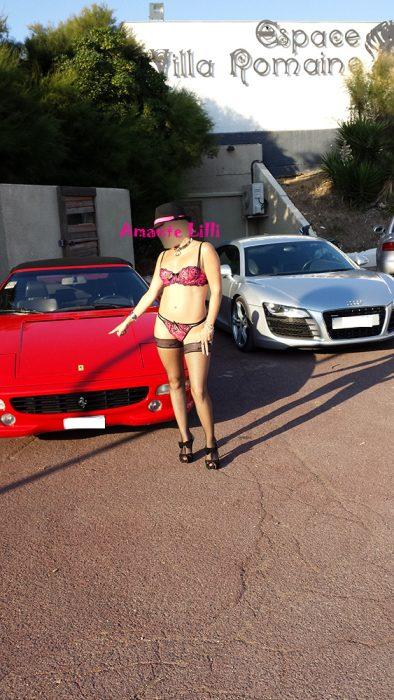 Amante Lilli au Cap d'Agde devant le Glamour