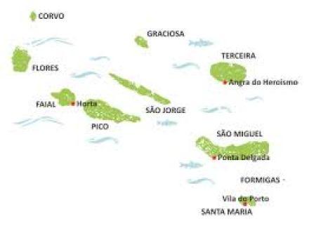 mapa açores CONHECER OS AÇORES – Amantes de Viagens mapa açores