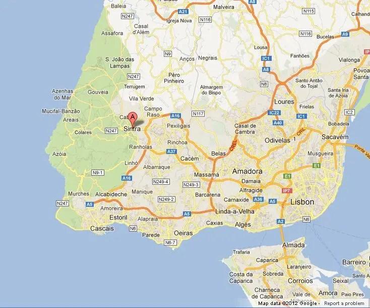 Sintra-on-Map-of-Region-of-Lisbon