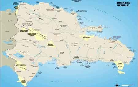 Mapa da República Dominicana