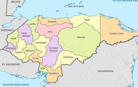 Mapa das Honduras