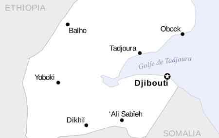 Mapa do Djibouti
