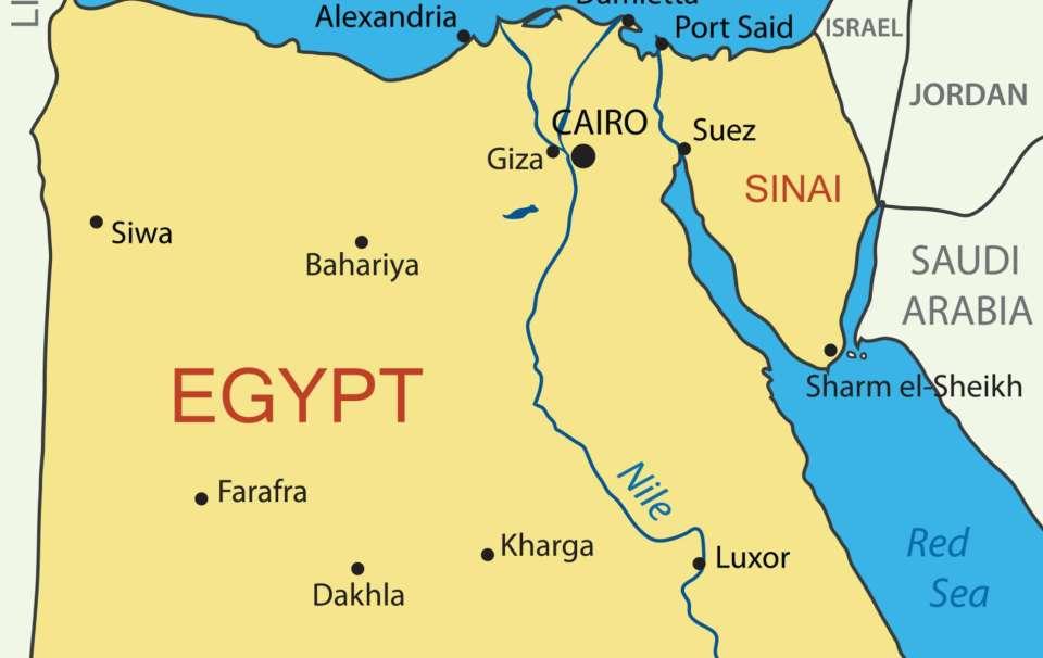 Mapa do Egipto
