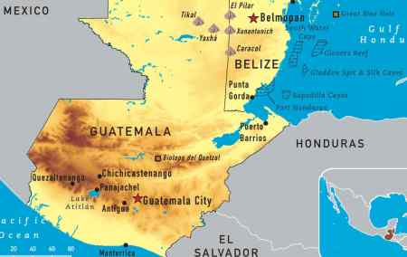 Mapa do Guatemala