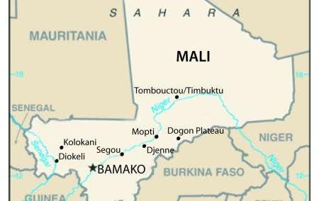 Mapa do Mali