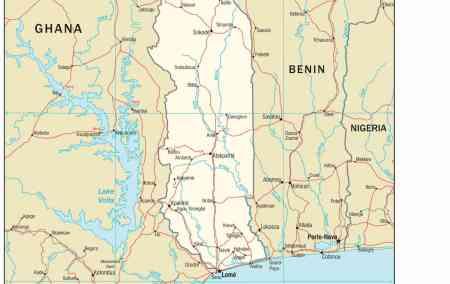 Mapa do Togo
